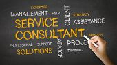 Service Consultant Chalk Illustration