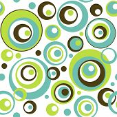 Retro Circles Seamless Wallpaper Pattern