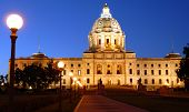 The Minnesota State Capitol at night
