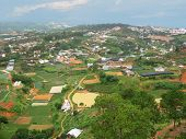 Panoramic View On Dalat City