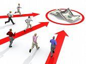 Empresário competição por dinheiro