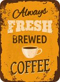 Vintage Coffee Tin Sign