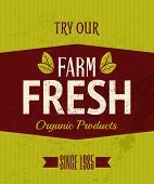 Retro Farm Fresh Poster