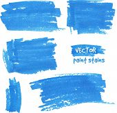 Vector spot of paint drawn by felt pen