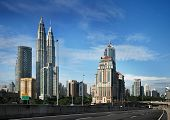 foto of petronas twin towers  - Kuala Lumpur Cityscape with twin tower and other - JPG
