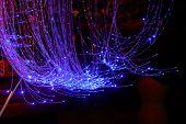 Blue Fiber Optic Cable