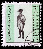 Post Stamp From Ajman