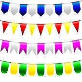 Vector Bunting And Garland Set