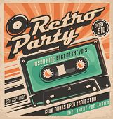 Retro party poster design