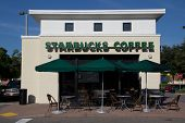 JACKSONVILLE, FL-SEP 21: Starbucks coffeehouse on September 21, 2013 in Jacksonville, Florida. Starbucks is the largest coffeehouse company in the world, with 20,891 stores in 62 countries (2013).