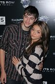Sarah Hyland and boyfriend Matt Prokop at the Saints Row: The Third Game Pre-Launch Event, Supperclub, Hollywood, CA. 10-12-11