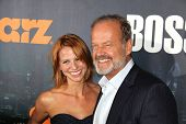 Kelsey Grammer, Kayte Walsh at the Starz Series