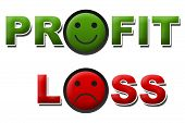Profit and loss Smile Sad