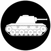 stock photo of panzer  - Tank icon on white background  - JPG