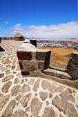 Lanzarote  Spain The Old Wall  Door  In Teguise Arrecife