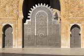 Oriental doors Hassan II Mosque, Casablanca, Morocco