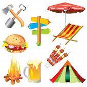 Piknik symbol set