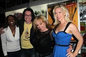 Thela Brown, Cody Jarrett, Kitten Natividad, Geneviere Anderson at the Signing Party for