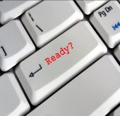 Computer keyboard Enter Key saying Ready?