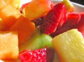 Food Fresh Fruit Melon Strawberries Pineapple