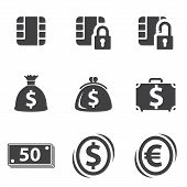 Money set icon