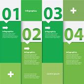 Green Modern flat design infographics