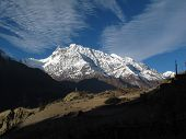 Beautiful morning in the Himalayas