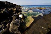 Landscape   In Lanzarote Spain Isle