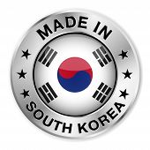 Made In South Korea Badge