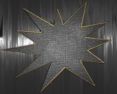 Metal Background with metal star nameplate.