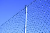Mesh Fence With A Post