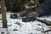 Crime Scene In Snowy Forest