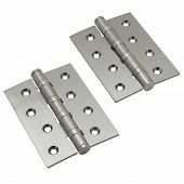 Brushed metal door hinges