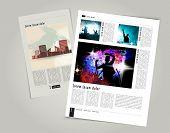 Magazine layout design. Editable vector