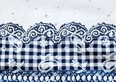 Vintage White And Blue Cotton Fabric