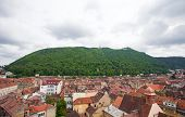 Panoramic view of Brasov city with Tampa mountain