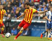 BARCELONA - MARCH, 29: Cesc Fabregas of FC Barcelona in action during a Spanish League match against