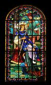 PARIS,FRANCE NOV 07:Saint Louis IX of France, Notre-Dame de Clignancourt church located in the 18th