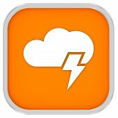 Cloudy With Possibility Of Lightning Sign