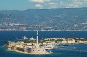 stock photo of messina  - Scenic view of the Italian port of Messina - JPG