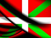 stock photo of basque country  - 3D Flag of Basque Country - JPG