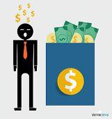 Successful businessman. Vector illustration.