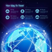 Network travel background