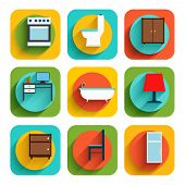 House Interior Furniture Icons
