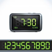 Digital alarm clock numbers
