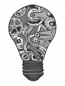 Gears lightbulb sketch
