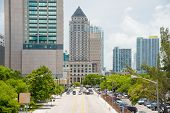 MIAMI,USA - MAY 27,2014 : Urban view of downtown Miami next to Government Center