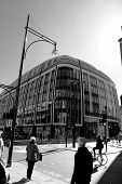 Black and white picture of Oxford Street London