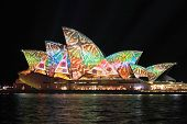 Colourful Reptile Snake Pattern On Sydney Oper House During Vivid Festival