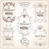 Elegant restaurant labels